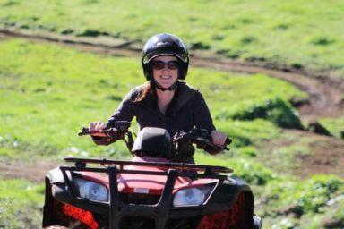 bike riding and claybird shooting in Taranaki