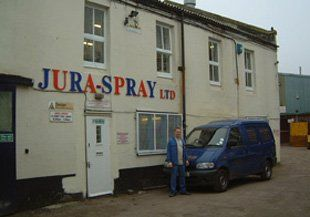 Polyester powder coating - Mitcham, Surrey - Jura-Spray Ltd - Van