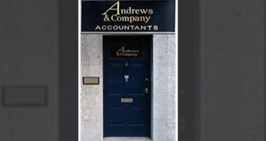 Entrance door to Andrews & Company