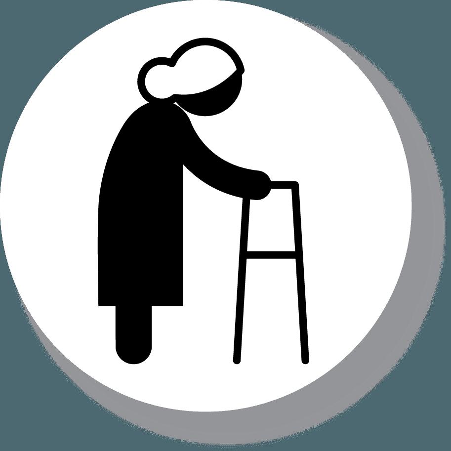 Icona di un'anziana