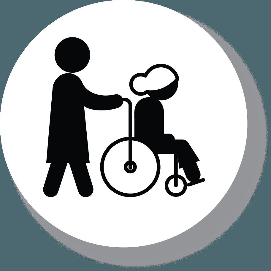 Icona dell'assistenza anziani