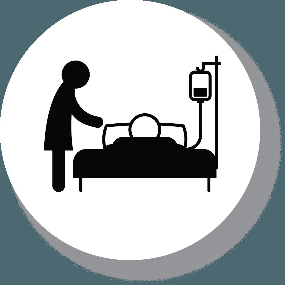 Icona dell'assistenza medica per anziani