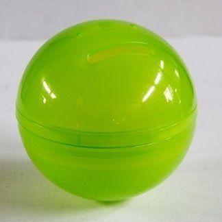 Sfera in plastica verde lucida
