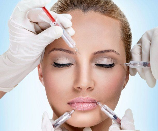 Botox treatment in progress
