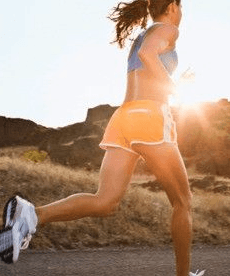 Women running in nike shoes