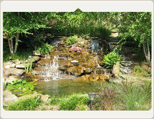 custom ponds waterfalls