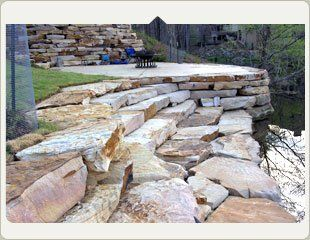 custom patio pond