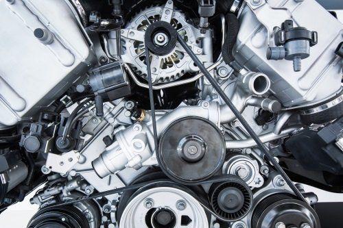 dettaglio di motore auto