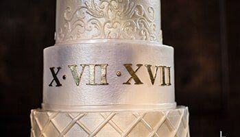 Wedding Cake With Roman Numbers In Houston TX