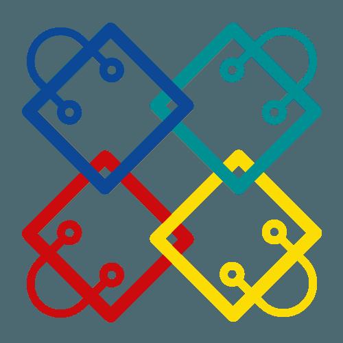 icona borse per la spesa colorate