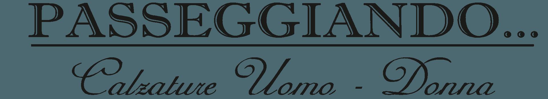 PASSEGGIANDO calzature uomo-donna logo