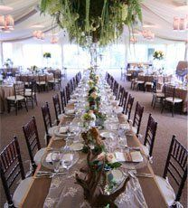 Party tent with tables and chairs rented in Webster, NY