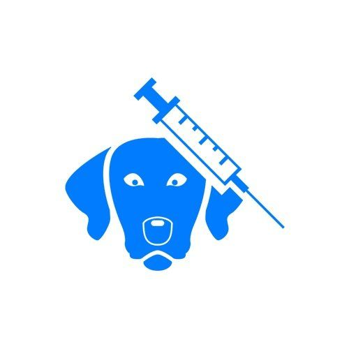 logo di  un cane e una siringa