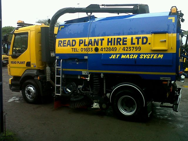 Street cleaning - Newport - Read Plant Hire - sweeping