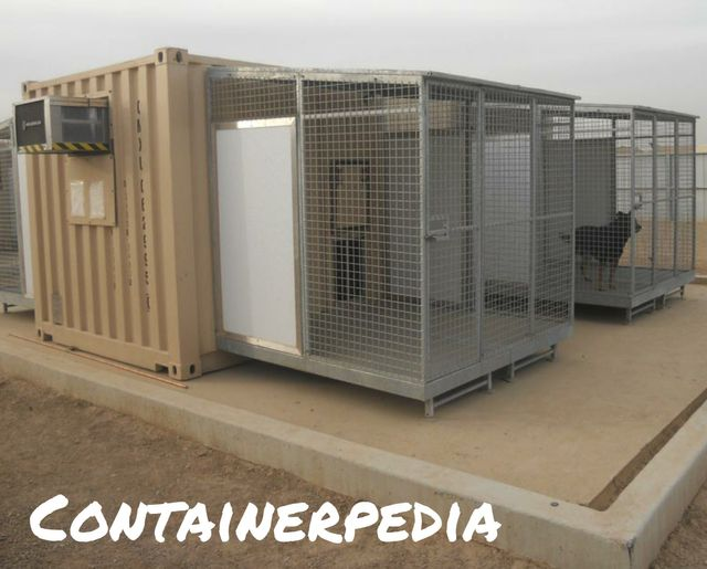 Shipping Container Kennel Modification
