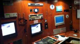 Ufficio mobile e sala di comando dell'attrezzature di monitoraggio