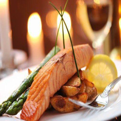 piatto di salmone