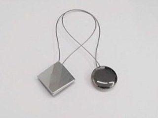 Calamite in metallo cromato con cavetto