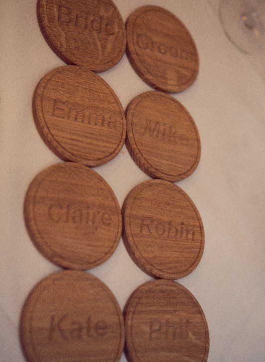 Wooden coasters