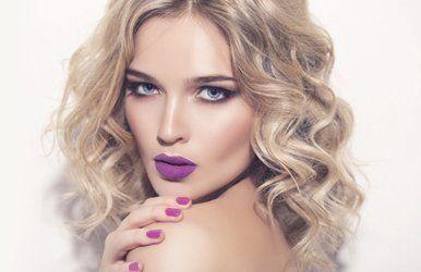 violet nail colour