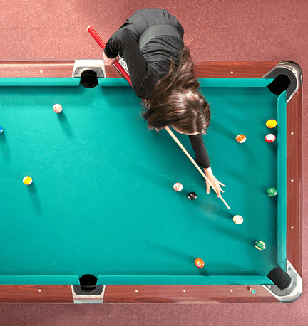 larger sized pool table