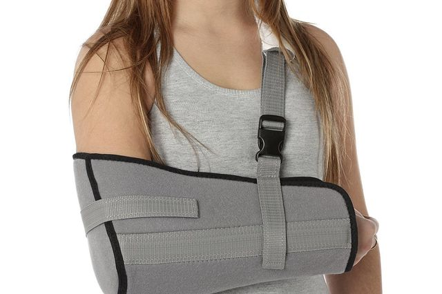 Girl in a arm sling