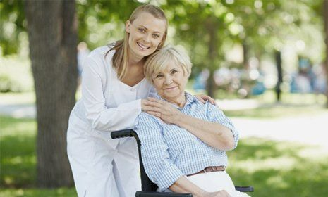 carer and the old woman