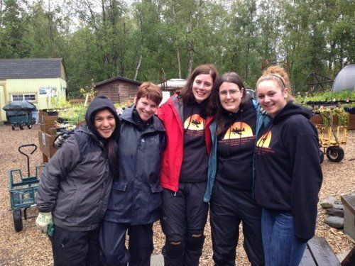 Group of Volunteer at the Alaska Botanical Gardens  in Anchorage, AK
