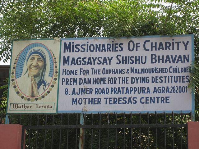Mother Teresa orphanage bill board