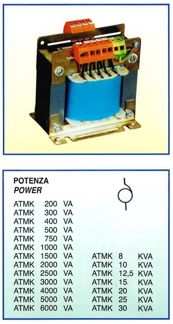 lista potenza ATKM 200 VA fino a aATKM 6000 VA