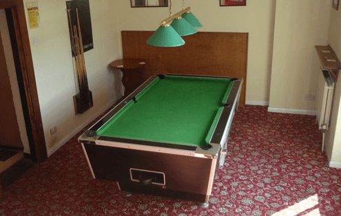 Pool table at The Mucky Duck Inn