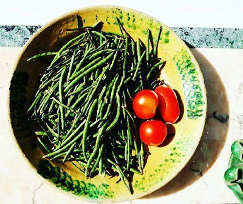 fagiolini e pomodori
