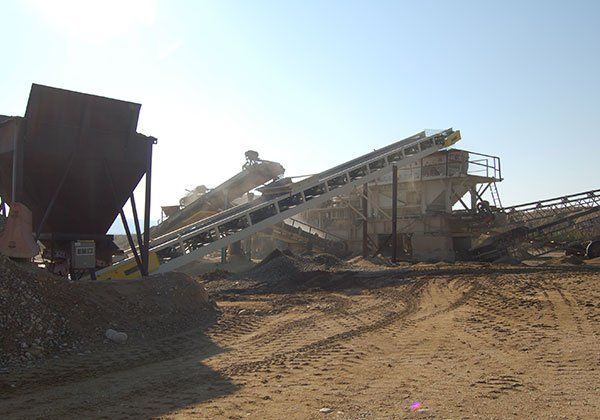 Work being done in a gravel quarry