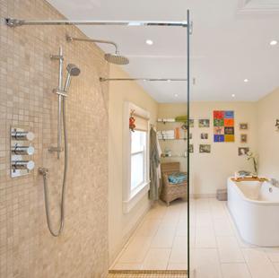 A shatter proof shower door