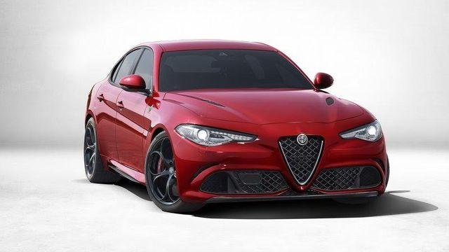 Red Alfa Romeo model
