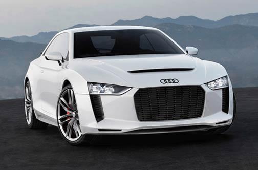 White Audi car