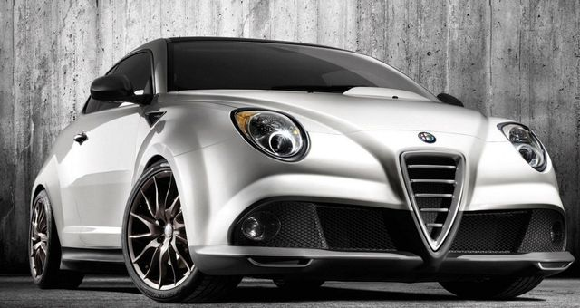 Silver Alfa Romeo model