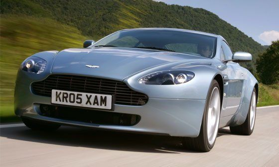 Aston Martin car on the road