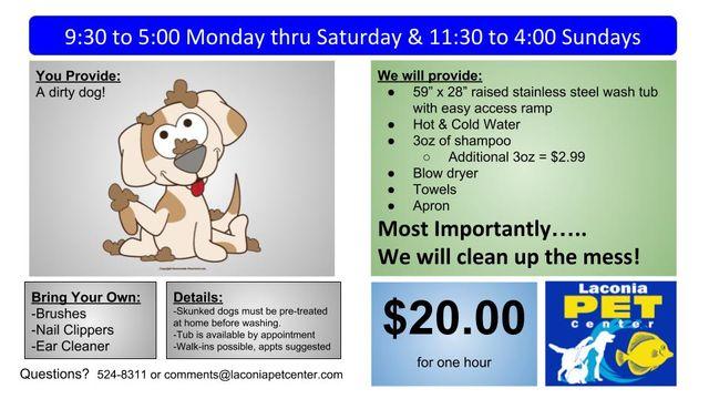 Dog Wash DIY Concord, NH   Laconia Pet Center