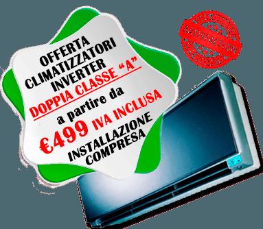 offerta climatizzatori inverter doppia classe A