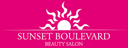sunset boulevard beauty salon company logo