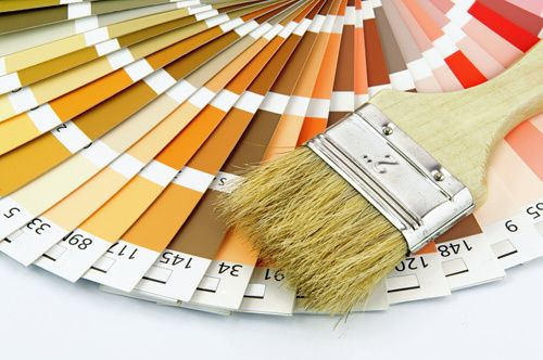 Paint swatches and brush for providing all the painting services you need, anywhere in Auckland, NZ