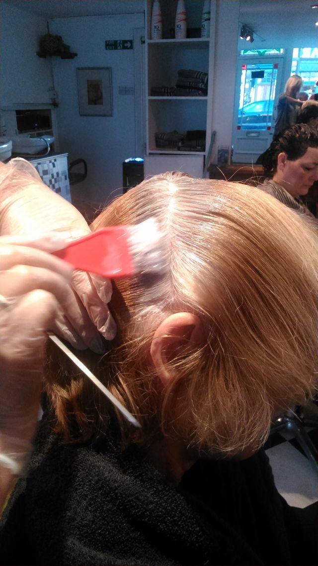 ladies hair styling