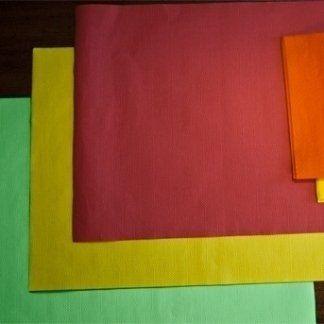lavorazione carta, tovaglietta a tinta unita