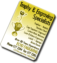 Trophy engraving experts in Auckland, NZ