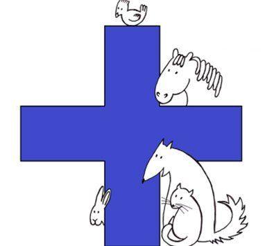 Disegno della croce blu di soccorso animale