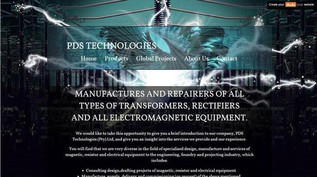 Pds Technologies website