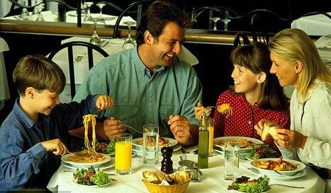 Kids Eating with Family