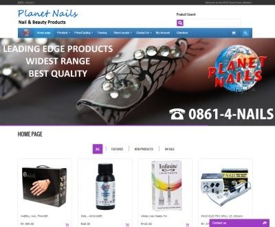 Planet Nails Website