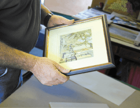 conservation-&-restoration-lewisham-london-david-lloyd-bespoke-picture-framer-picture-framer